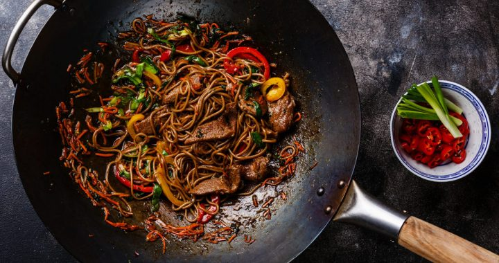 Wok Dinner. 5 Brilliant Ideas with Noodles.