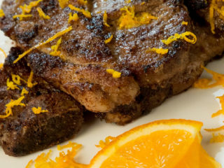 spiced lemon pork steak
