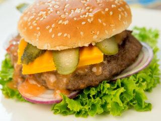 ketchup mayo veggie hamburger