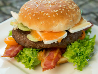 Bacon and Brie Hamburger