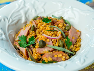 Warm Lentil and Bacon Salad