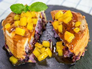 walnut blueberry mango mini cake