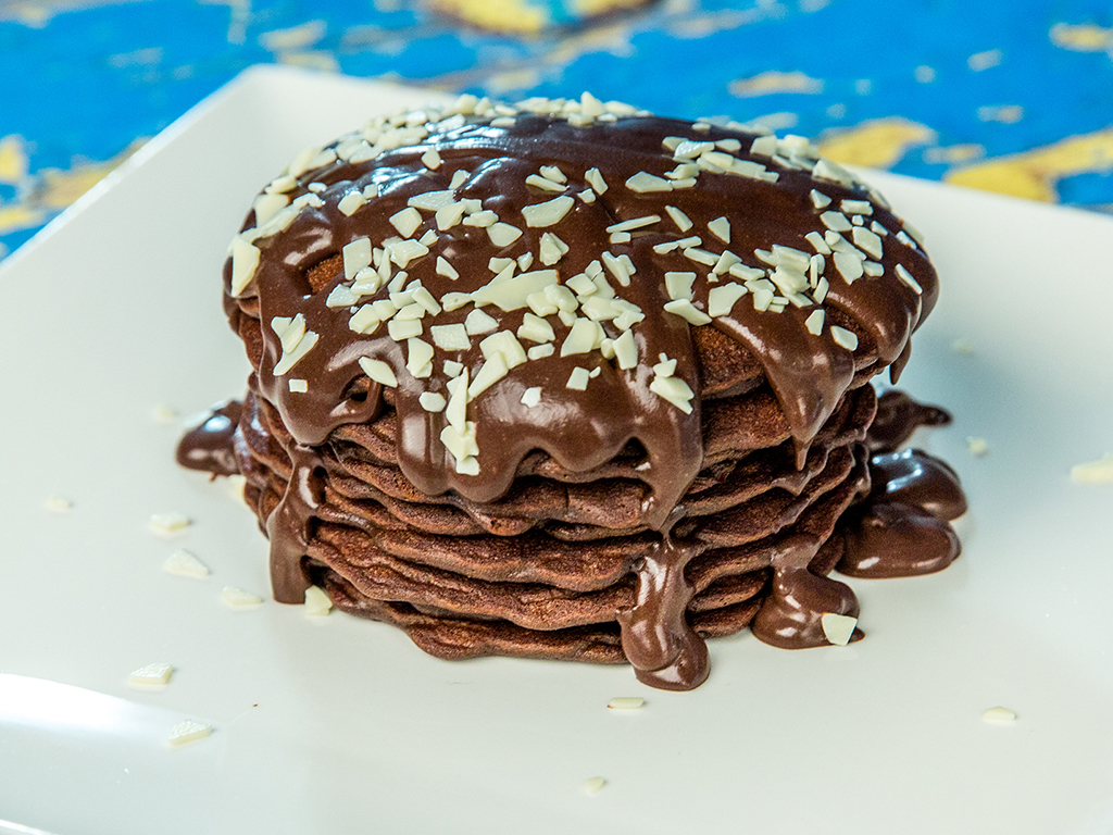 Cocoa And Chocolate Pancakes