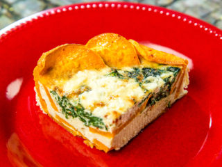 Sweet Potato, Spinach and Cheese Tart