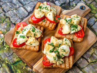 Egg Salad Toast Sandwiches