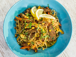 beef and veggie noodles
