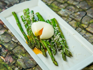 Roasted Asparagus with Egg and Parmesan