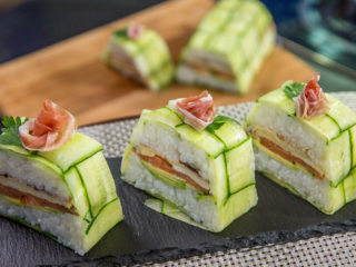 Braided Cucumber Sushi