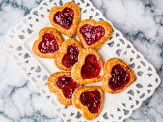 Heart-Shaped Cherry Cookies