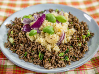 spiced ground beef with couscous