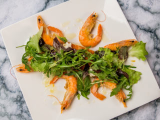 Prawn and Salmon Salad with Horseradish Sauce