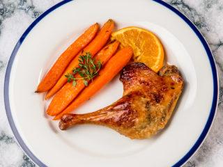 Roast Duck Legs with Orange Glazed Carrots