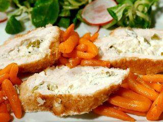 Cream Cheese-Filled Chicken Schnitzel
