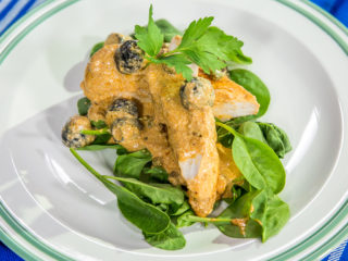 Chicken Breast with Anchovy and Yogurt Sauce