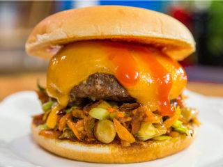 Enoki Mushroom Hamburger