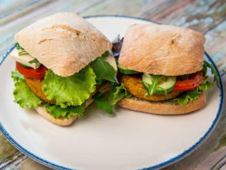 Vegetarian Oat Burger