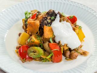 potato and sweet potato veggie stew