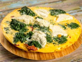 Zucchini, Spinach and Cheese Frittata