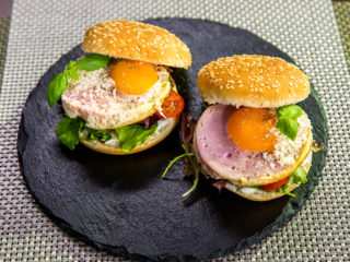 Egg and Beetroot Burgers