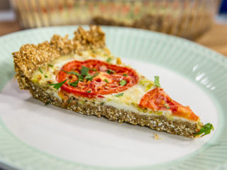 Quinoa Crusted Leek Pie