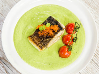 Fried Perch Fillet with Veggie Puree