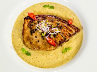 Tuna Steak with Sweet Corn Puree