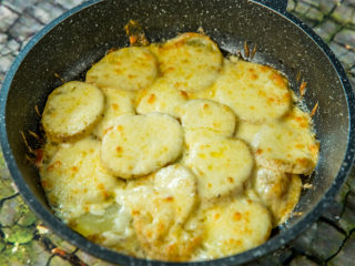 Roasted Potatoes with Mozzarella and Butter