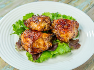 Roasted Chicken Thighs with Orange and Ginger Marinade