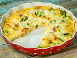 Cheesy Bacon and Broccoli Pie
