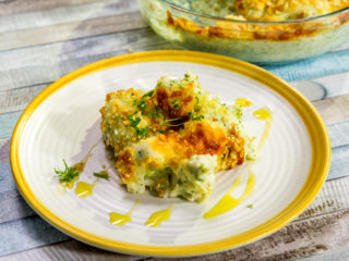 Cheesy Broccoli and Cauliflower Casserole