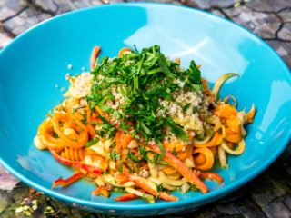 Zucchini and Carrot Salad with Asian Dressing