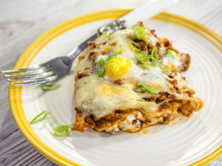 Beef Lasagna with Porcini and Quail Eggs