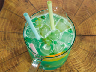 Caipiroska with Curacao, Ginger and Honey