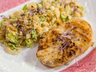 Chicken with Mushroom Cauliflower Rice