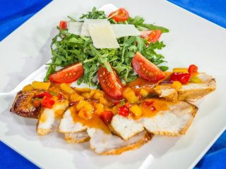 Chicken Breast with Mango and Bell Pepper Salsa