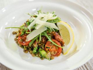 Warm Lentil and Tomato Salad -