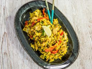 spiced wild rice with chicken