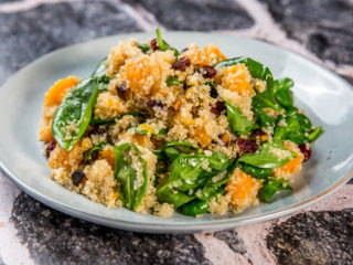 butternut squash, spinach, and quinoa salad