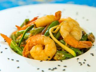 Colorful Shrimp Stir-Fry