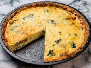 Veggie and Egg Tart in a Potato Crust
