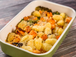cheesy gnocchi and sweet potato casserole