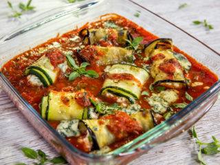eggplant and zucchini rollatini