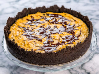 oreo chocolate and squash cheesecake