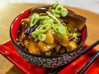 eggplant with rice vinegar sauce