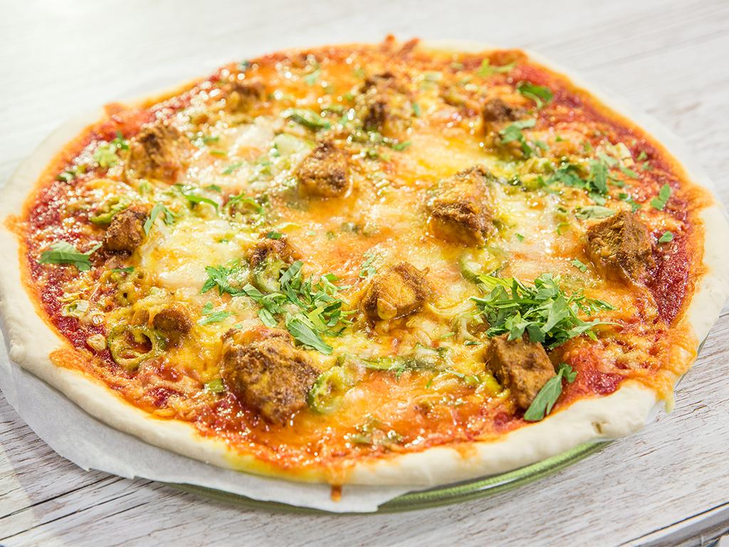 Microwave Chicken Pizza