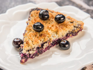 Blueberry and Pineapple Crumble Tart