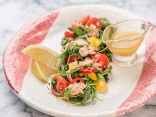 Roasted Salmon and Arugula Salad