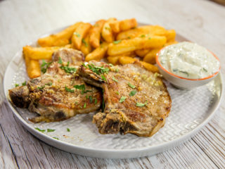 Pork Chops with Greek Yogurt Sauce