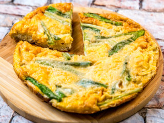 Spring Onion and Mushroom Frittata