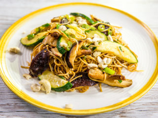Shiitake and Zucchini Noodles